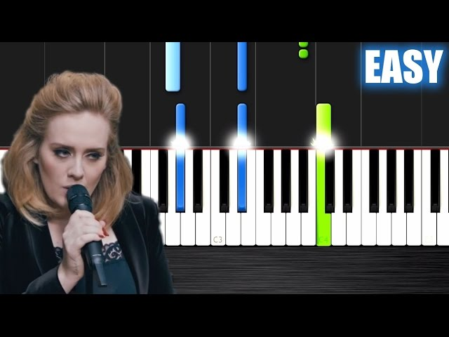 how to play adele on piano easy