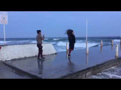 Odessa Ukraine Arcadia beach Selfie time on the Black Sea March 2017