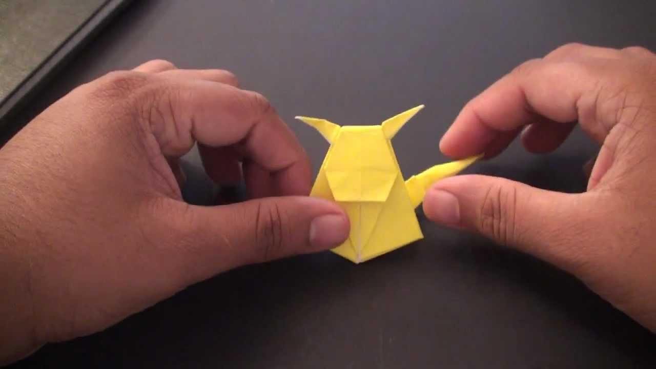 Origami Pokemon Pikachu Bookmark Sunderorigami Youtube
