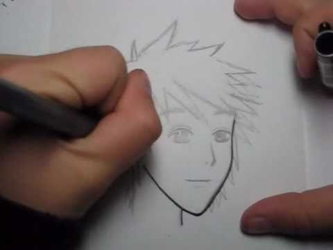 How To Draw Manga Hair Simple Male Hairstyle Youtube