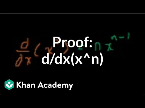 Proof: d/dx(x^n)