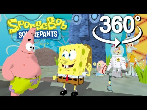 Spongebob Squarepants! - 360° How to Blow a Bubble Technique - (The First 3D VR Game Experience!)