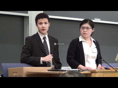 high school students debate @ Columbia Law