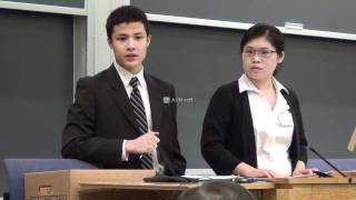 high school students debate @ Columbia Law