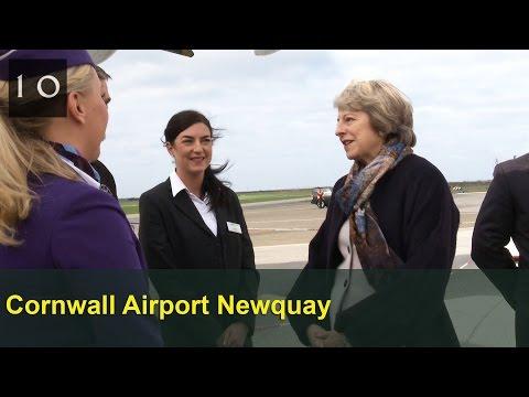 PM visits Cornwall Airport Newquay