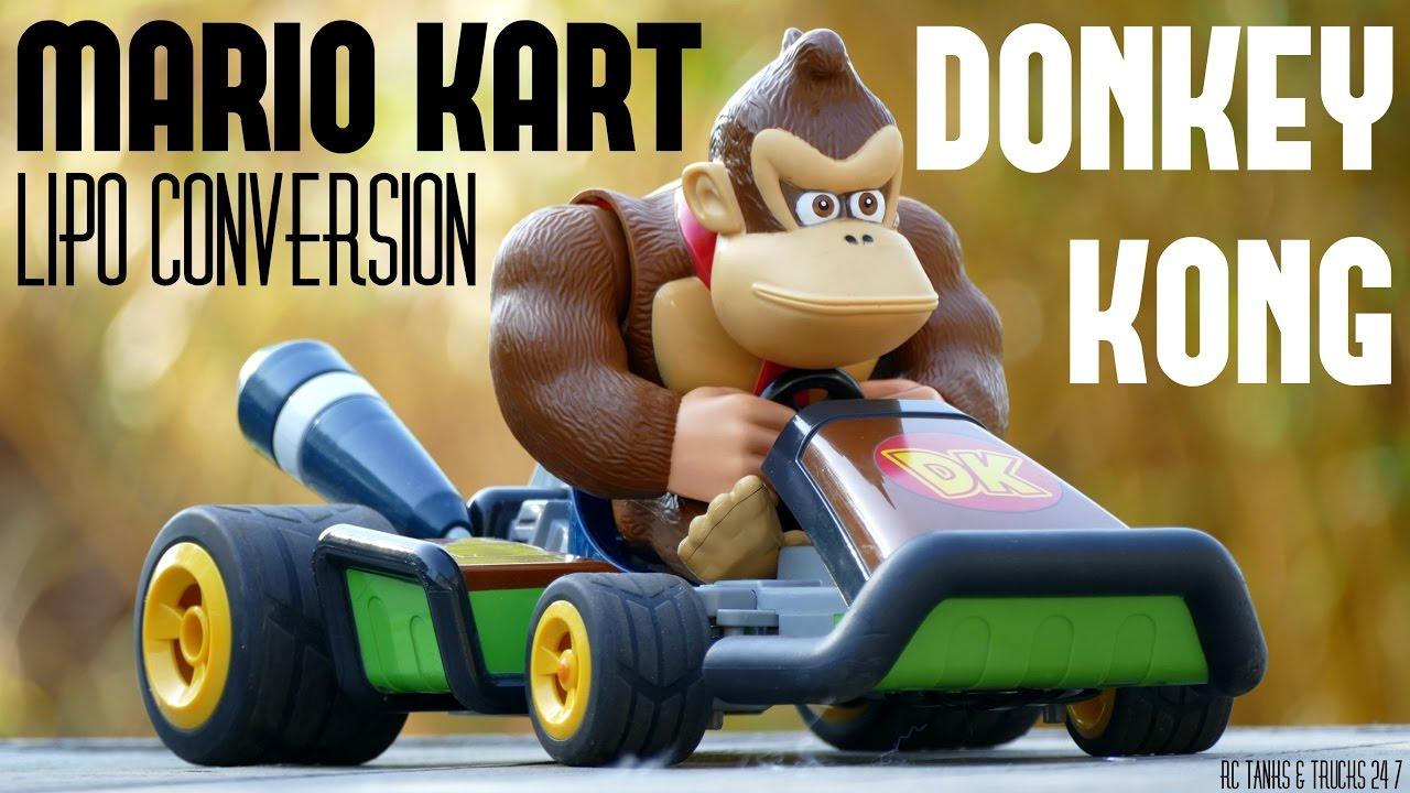 Donkey kong mario kart wii car tuning - Mario Kart Donkey Kong Rc Gokart Lipo Conversion Hobby Grade Mods