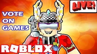 Roblox Live Stream- Rock The Vote! - Crusher, Jailbreak, Island Royale, Flood Escape, Epic Minigames