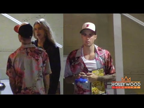 Justin Bieber and Hailey Baldwin Attend Church Services at Night