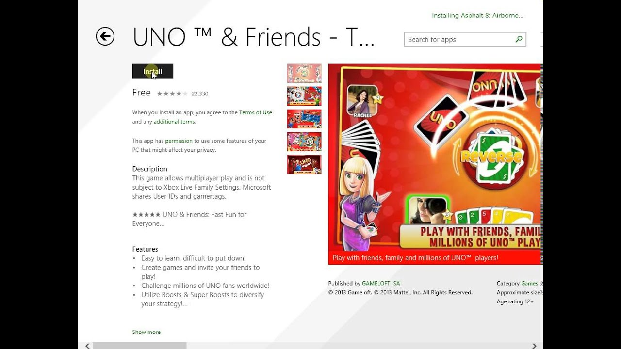 free uno game download full version