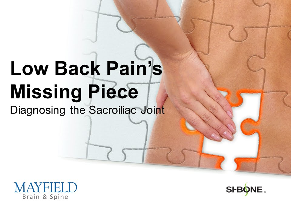Sacroiliac Joint Pain, hip and buttock pain, SI joint fusion