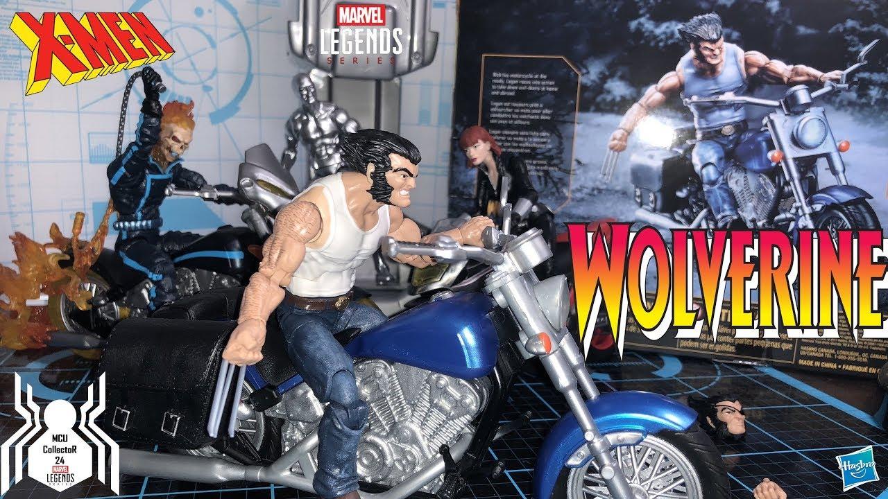 "WOLVERINE /& MOTORCYCLE ULTIMATE DELUXE MARVEL LGENDS HASBRO 6 /"" ACTION FIGURE"