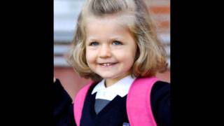 Infanta Leonor of Spain: Little funny & beautiful girl!