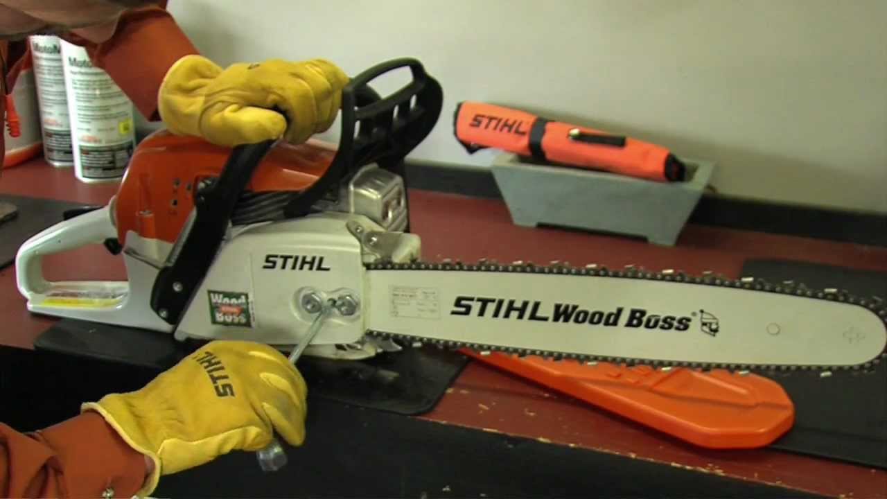 How to adjust your stihl saw chain youtube greentooth Image collections