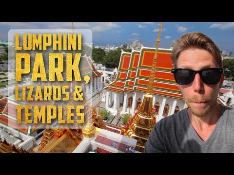 Lumphini Park, Big Lizards & Temples