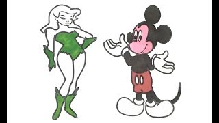How to Draw Beautiful Sexy Women, Drawing & Coloring Idea, Cartoon Draw