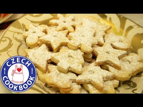 Linzer Christmas Cookies Linecke Cukrovi Czech Cookbook Video