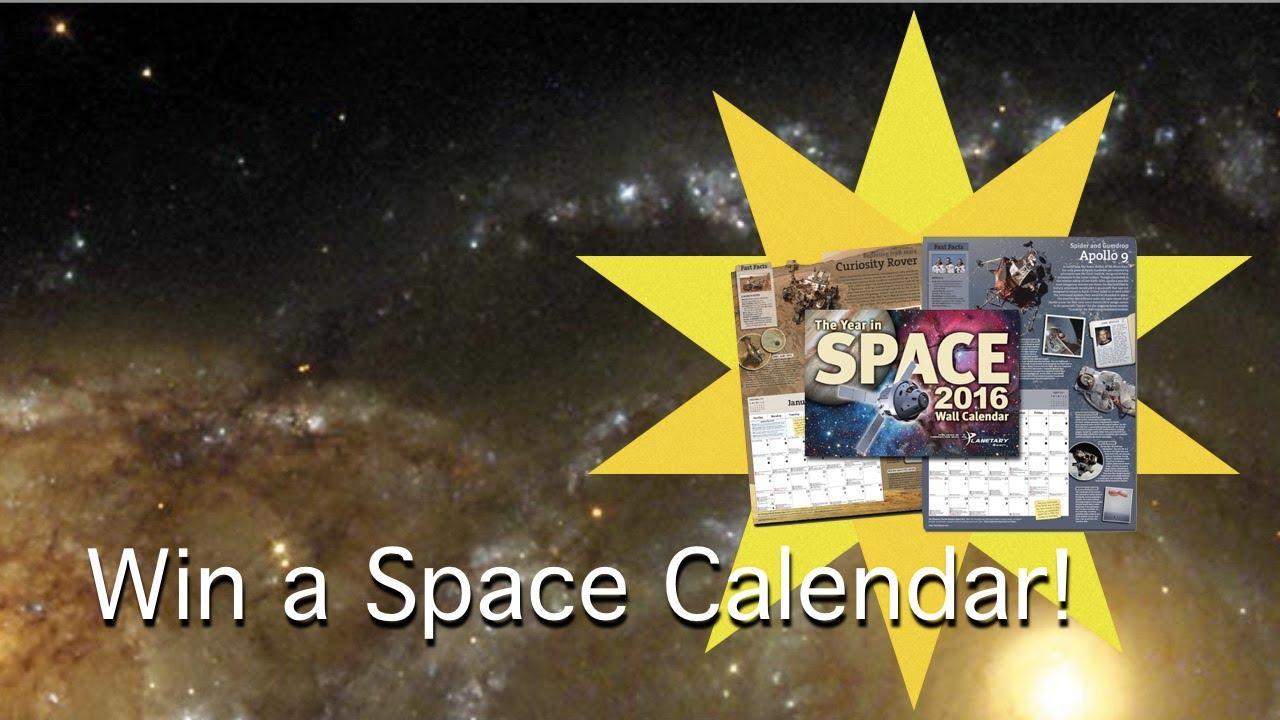 win a year in space calendar