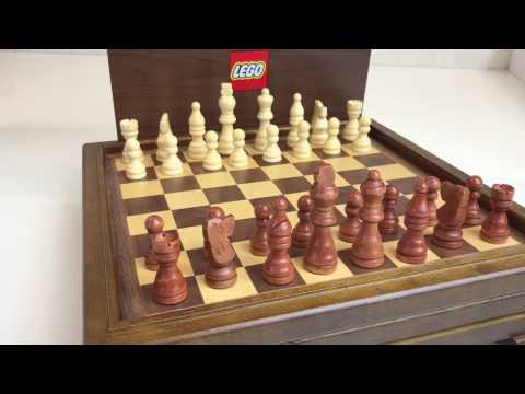 LEGO Wooden Chess and Game Set - Employee Gift
