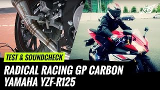 official soundtest   unboxing montage radical racing gp carbon yamaha yzf r125