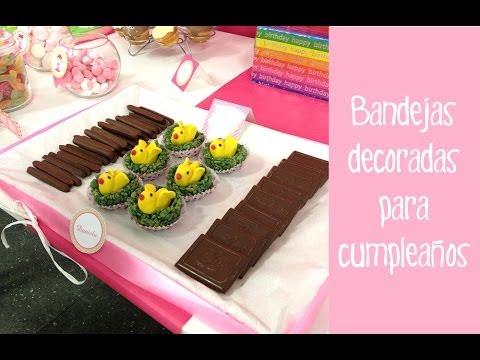 Bandejas decoradas para cumplea os decoraci n fiestas - Decoracion para fiestas de cumpleanos infantiles ...