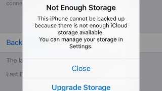 iCloud Storage Full : How to Free up iCloud storage space on iPhone iPad iPod