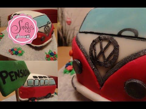 VW Bus Torte/VW camper cake/ how to make by Sanny´s eSport Torten