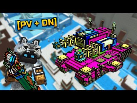 Pixel Gun 3D Clans 2.0 - НОВЫЙ ФОРТ и TESLA ТАНК (444 серия)