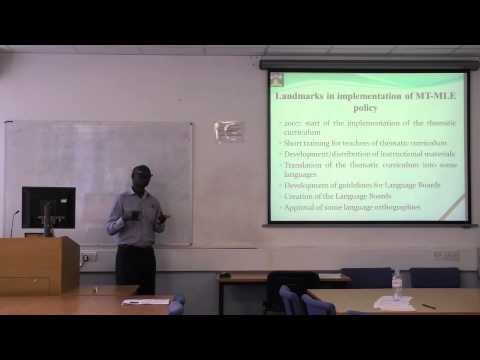 Dr. Willy Ngaka - Problems and Prospects in Enhancing Literacy in African Languages