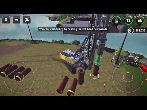 Construction Simulator 3 - #3 Bridge To Neustein and Rotary Drill - Gameplay