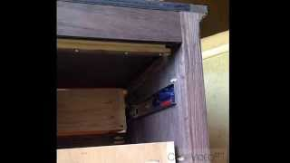 Night Stand With Secret Locking Hidden Drawer