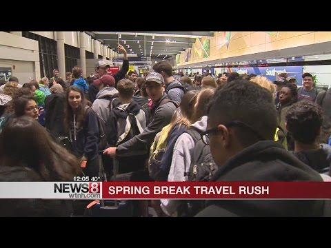 Bradley Airport experiences Spring Break travel rush