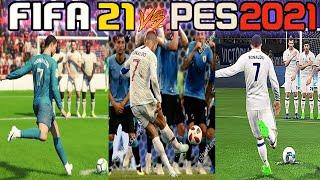 vuclip PES 2019 VS FIFA 19 - UMA ANALISE NOOB! (CR7 FREE KICK ) 60FPS