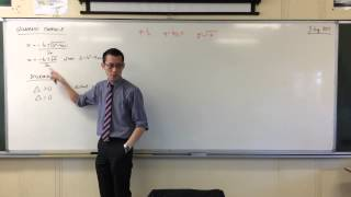 Quadratic Functions: What the Discrimant tells you