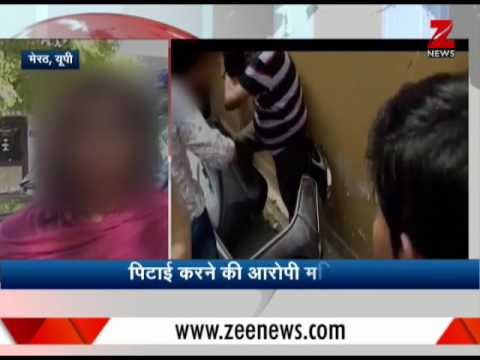 Woman beats brother-in-law on road in Meerut| मेरठ में महिला ने जेठ को सड़क पर पीटा