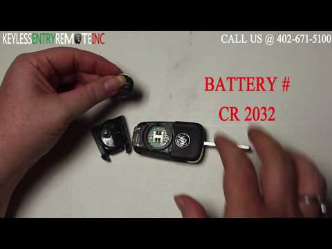 How To Replace A 2012 – 2017 Buick Verano Key Fob Battery