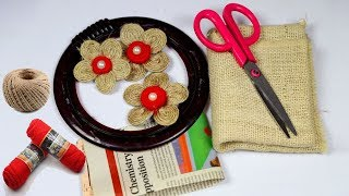 how to make jute wall hanging showpiece | handmade wall hanging jute | decorate your home with jute