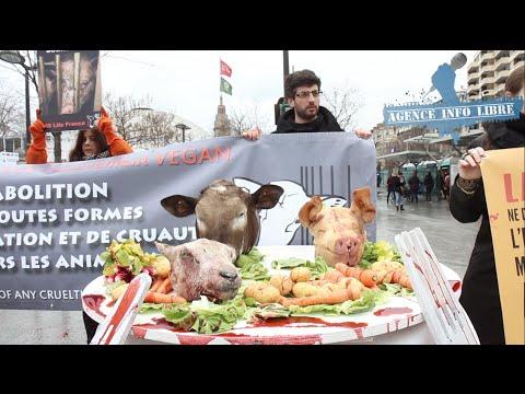 Droit des animaux manifestation choc au salon de l - Entree gratuite salon agriculture 2015 ...