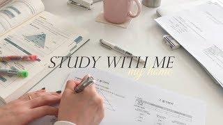 집에서 같이 공부해요:) / STUDY WITH ME : MY HOME (no music, real time, study asmr) | 수린 suzlnne