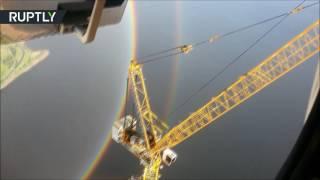 في لحظة نادرة جدا.. قوس قزح دائري يظهر في سماء سان بطرسبورغ!