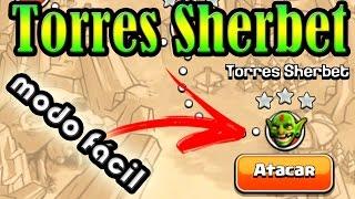 CLASH OF CLANS   Passando pelas Torres Sherbet do modo mais fácil (Sherbet Towers the easy way)