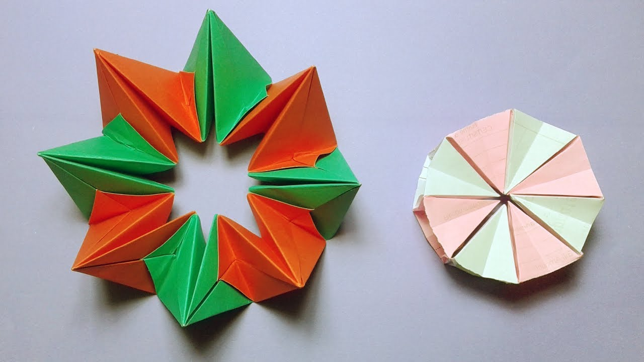How To Make Easy Origami Magic Circle Paper Fireworks Craft Instructions Step