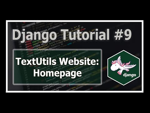 Creating Homepage of our TextUtils Website | Python Django Tutorials In Hindi #9 thumbnail