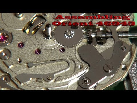 Orient 46943 - Assembling watch movement