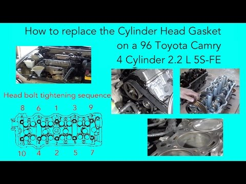 How to replace the cylinder head gasket on a 96 Toyota Camry 4 cylinder