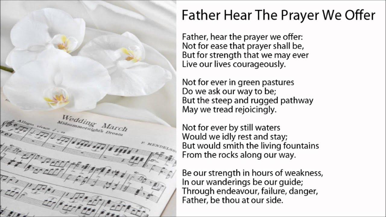 John Waller:The Marriage Prayer Lyrics | LyricWiki ...