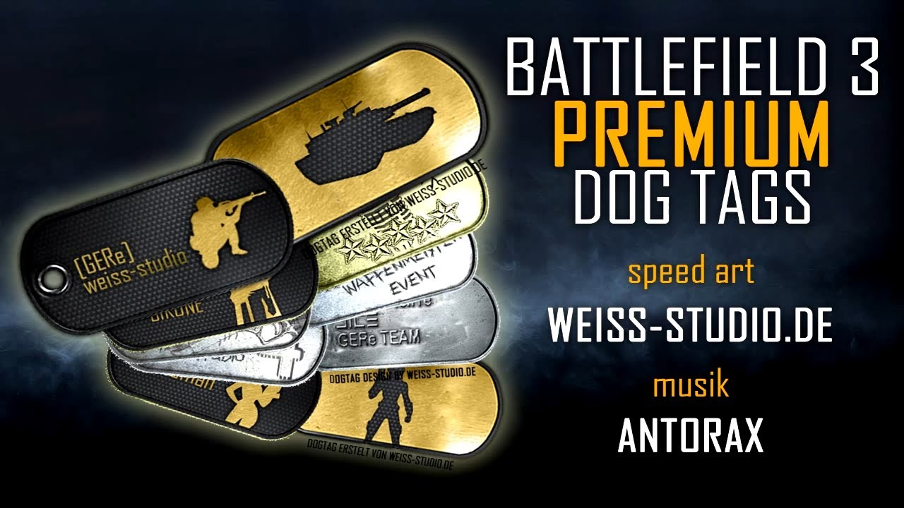 eigene Battlefield Dog Tags erstellen Speed Art | Photoshop - YouTube