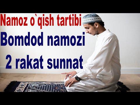 Namoz o`qishni o`rganish , Namoz o`qish tartibi Bomod 2 rakat sunnat