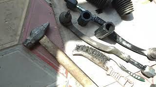 Снимаю рулевую рейку Volvo  XC90 часть-2