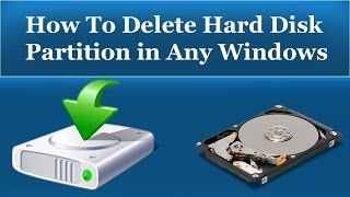 How To Delete Hard Disk Partition in Windows 7/8/10/XP - Urdu/Hindi