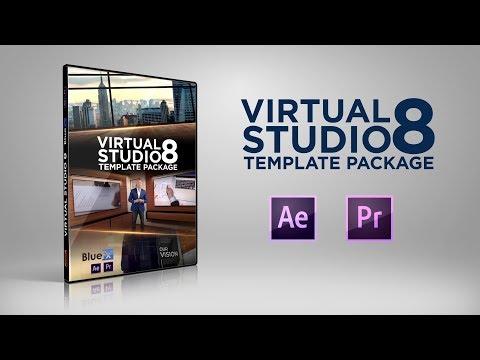 After Effects & Premiere Pro Template Virtual Studio 8 | Bluefx